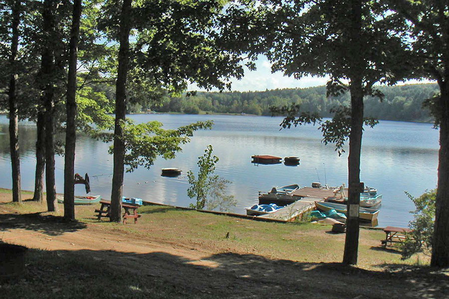 View of Lake Demmon Campground